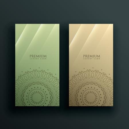 mandala card banner decoration design