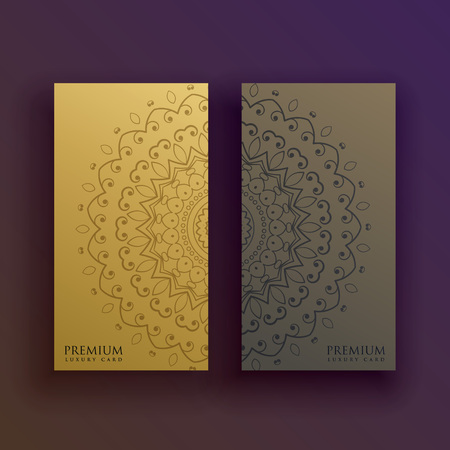 tantra: premium mandala card decoration design Illustration