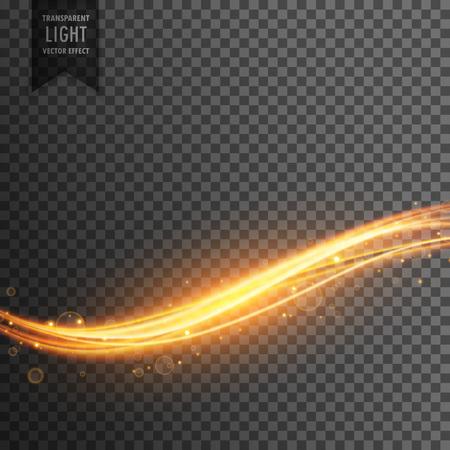 glitz: golden light streak transparent effect background