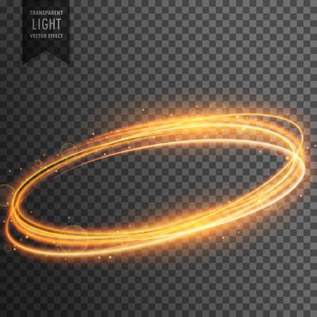 neon transparent golden light effect background