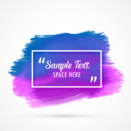 ink stain: blue purple watercolor stain vector background with text space Illustration