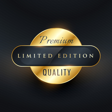 premium limited edition golden label or badge design