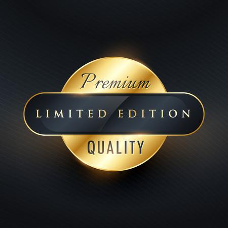 premium limited edition golden label or badge design