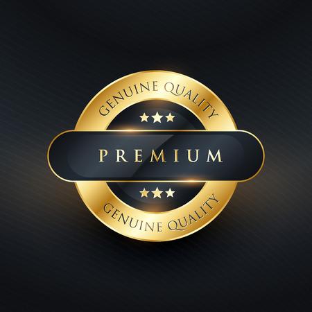 genuine premium quality golden label design