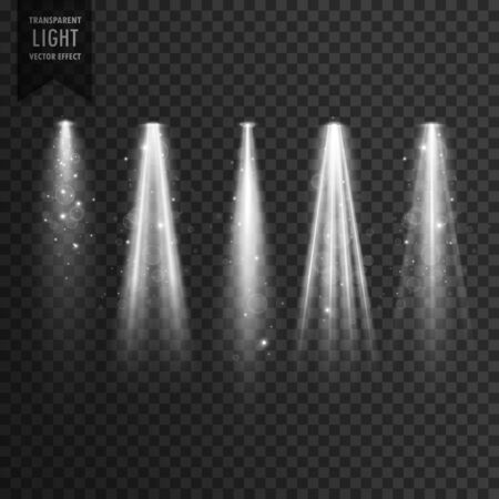 A stage transparent spotlight effect vector.