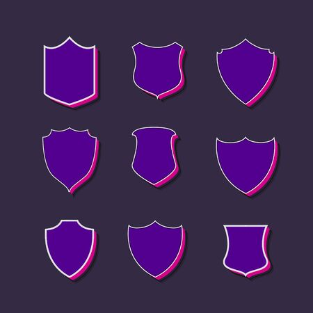 badges and labels 3d style collection Illustration