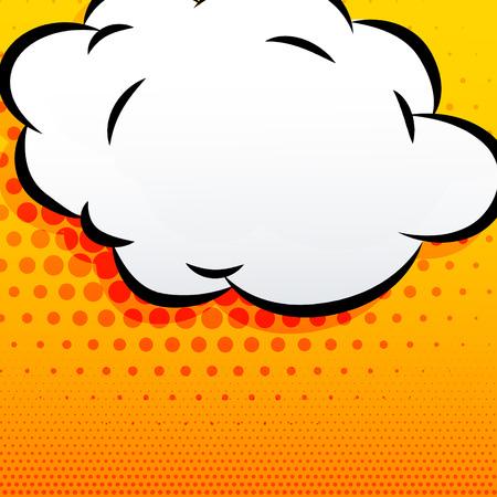 communication cartoon: cartoon cloud comic style background Illustration