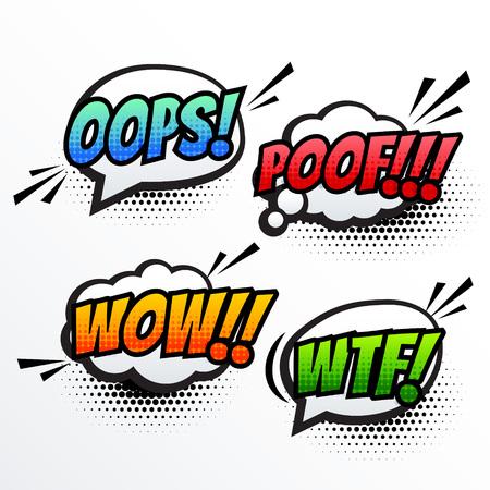 communication cartoon: comic text sound effect pop art vector