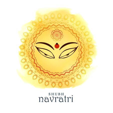 Beautiful maa durga goddess eyes for navratri festival