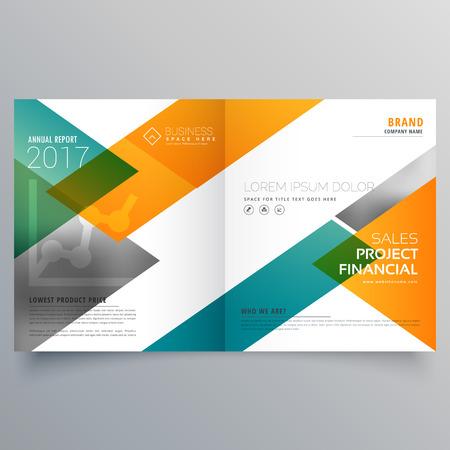 creative business bi fold brochure design template Illustration