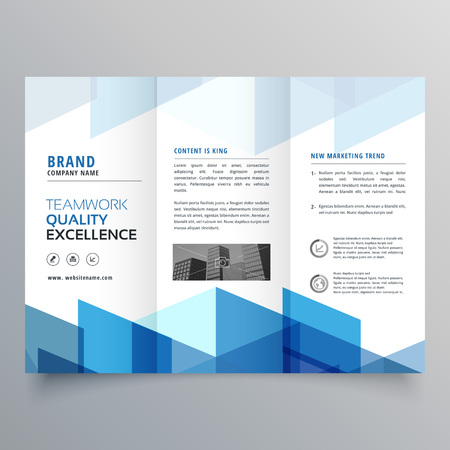 Blue geometric tri fold business brochure design template royalty blue geometric tri fold business brochure design template stock vector 87063726 fbccfo Choice Image