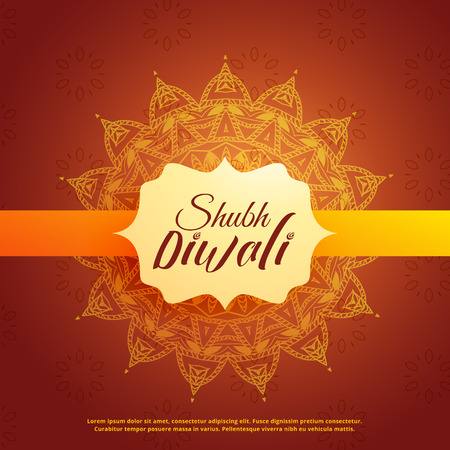 shubh (translation happy) diwali background with mangala decoration