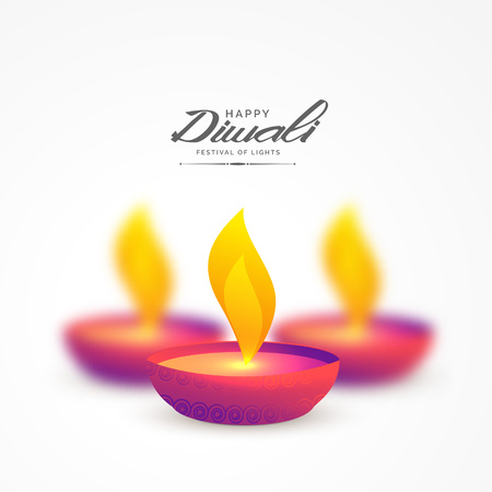 vibrant colorful diya for diwali background