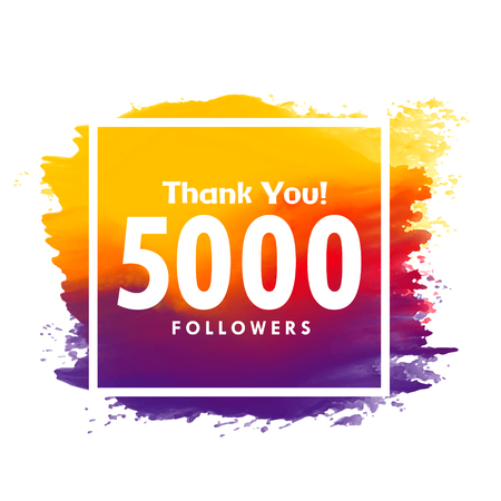 thankyou message for 5000 social media followers