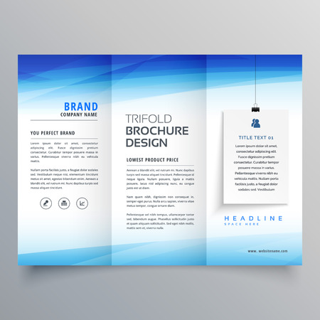 elegant trifold brochure design template Illustration