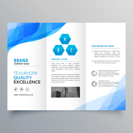 abstract blue brochure design template design Illustration