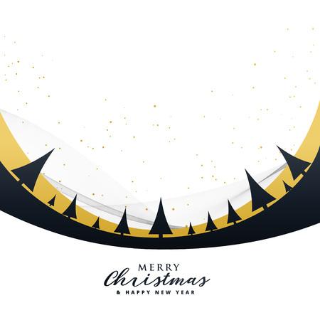 Conception d'affiche joyeux Noël élégant avec des arbres Banque d'images - 89993100