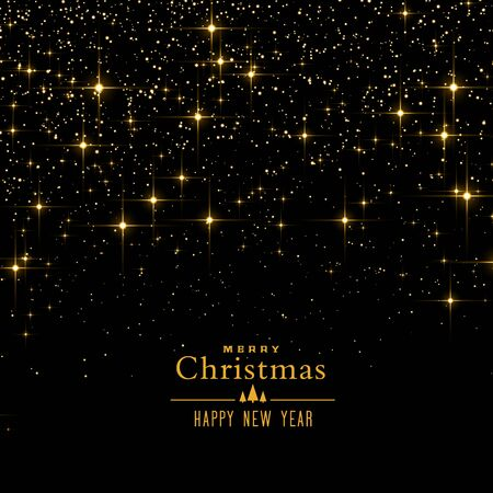 Black background with sparkles and glitter for christmas festival Иллюстрация