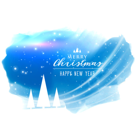 Abstract merry christmas background with light effect Illustration