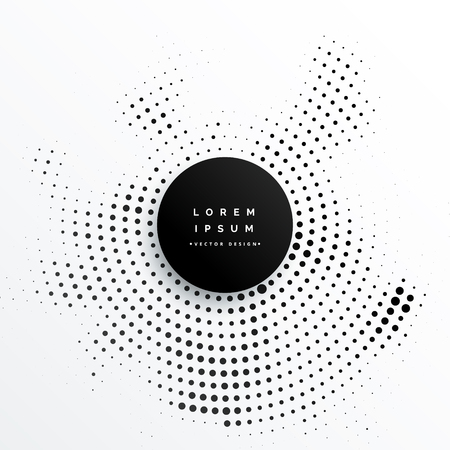 Circular halftone dots background design illustration. Фото со стока - 90456559