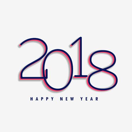Fundo do projeto do ano 2018 novo feliz, ilustração do vetor. Ilustración de vector