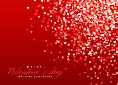 red glitter bokeh background light effect for valentines day Illustration