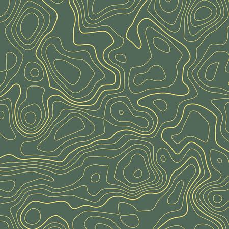 Line topographic map contour elevation background. Ilustração