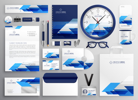 professional modern business stationery set design for your brand identity Stock Illustratie