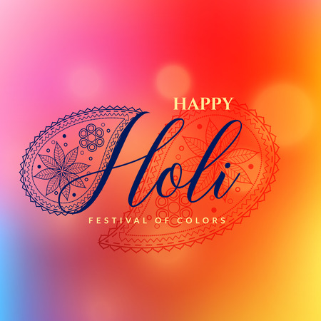 beautiful happy holi vector background design