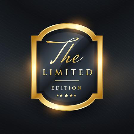 limited edition premium golden label design