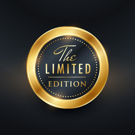 limited edition label design vector