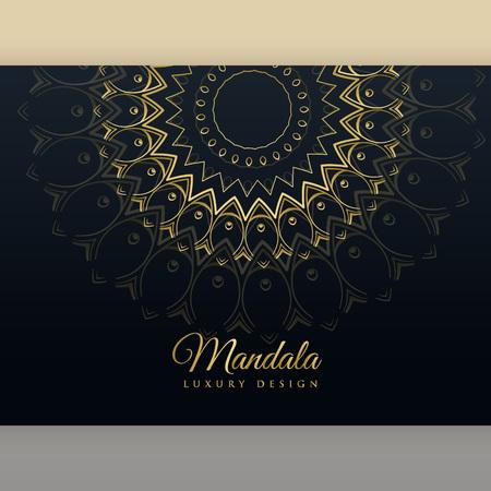 black luxury golden mandala poster design