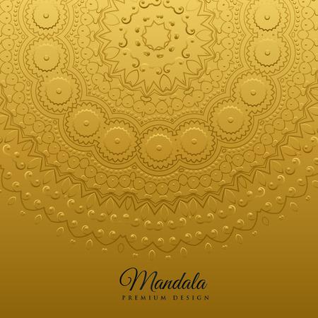 ethnic mandala art decoration background Illustration