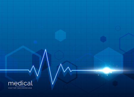 healthcare medical background with heart beat line Illustration