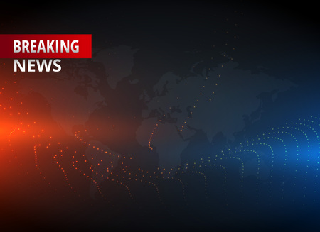 Breaking news concept design graphic for TV news channels.