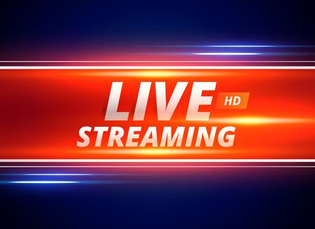 concept design in streaming live per i canali di notizie