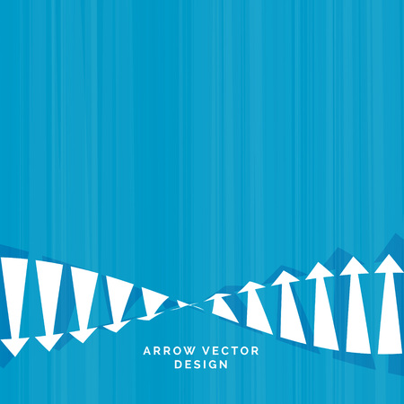 downfall and rise arrow concept design for business