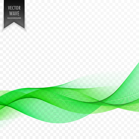 Green abstract wave elegant background Ilustrace