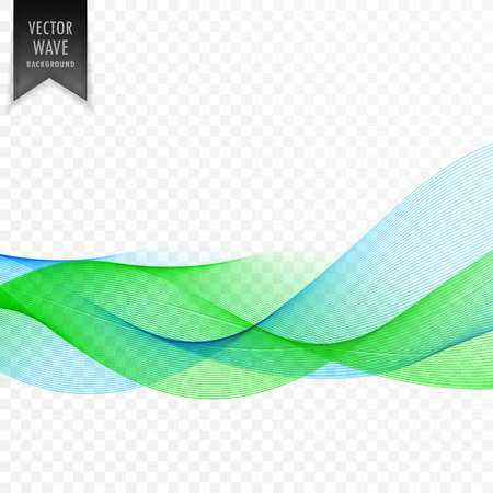 Abstract blue and green vector wave background
