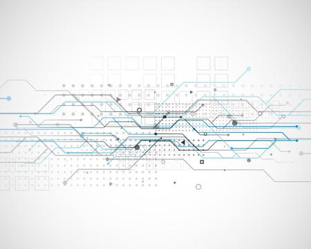 vector circuit network diagram technology background design Illustration