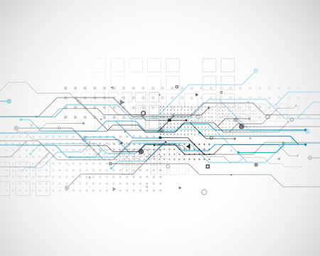vector circuit network diagram technology background design Illustration