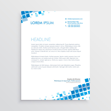 Abstract blue creative letterhead design
