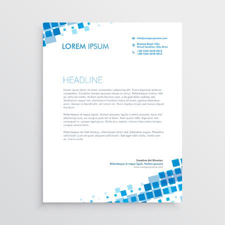 Abstrakte blaue kreative Briefkopfauslegung Standard-Bild - 95821677