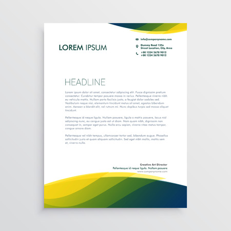 professional letterhead vector design Çizim