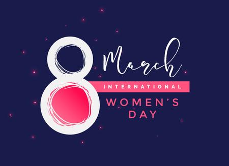 international women's day  vector background