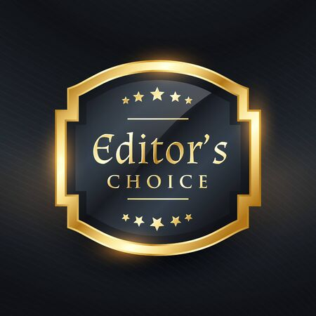 Editor's choice golden label design Illustration