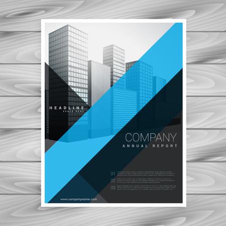 Blue black company brochure design