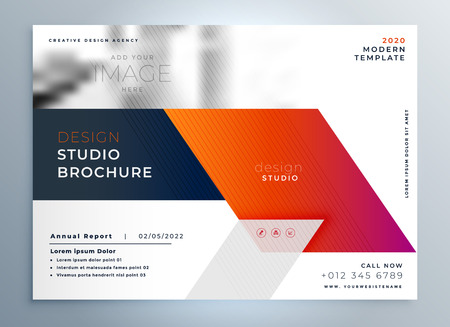 Abstract business brochure presentation leaflet design template