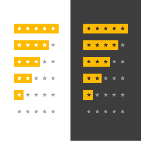 star rating icon for website or app Vettoriali