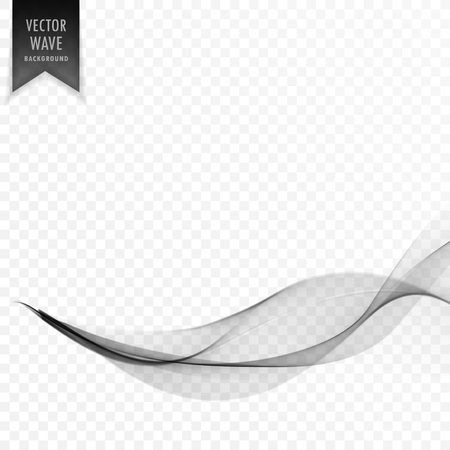 vector smooth transparent wave background